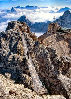 Via ferrata Ivano Dibona, Cortina d'Ampezzo, Belluno, Veneto, Italy