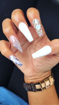 40 elegant nail art designs for prom 2019 nail design nails, Dope Nails, Nails On Fleek, Gorgeous Nails, Pretty Nails, Hair And Nails, My Nails, Elegant Nail Art, Nagel Gel, Prom Nails