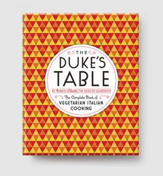 The Duke's Table | Melville House Books  For those who like recipes with a historical bite, Melville House's vegetarian cookbook, The Duke's Table, published earlier this year, also has its origins in history. Compiled in 1930, it was written by Enrico Alliata, an Italian Duke, who so believed in vegetarianism that he converted every classic Italian dish into a delectable vegetarian delight. From Melville House.