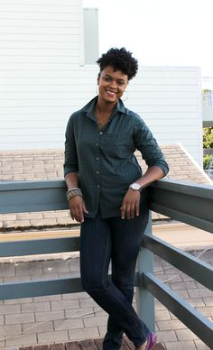 """""""The Western Addition shirt is lightweight with a traditional plaid pattern. perfect for layering, or wearing alone."""" - Kachét Jackson of The Lipstick Giraffe blog"""