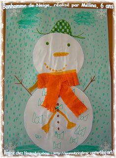 Bonhomme de Neige... réalisé par Mélina, 6 ans