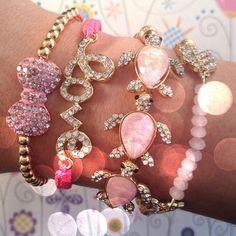 turtle bow pink gold #bracelet