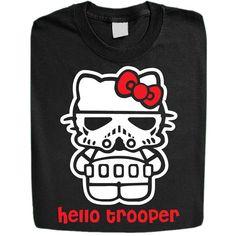 Funny T- Shirt - Starwars -Hello Trooper  Mens t shirt