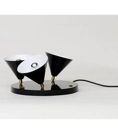 3 Cones Atelier Areti Floor Lamp 3 Cones, A Floor Lamp Proposed By Atelier  Areti, Is Characterized By A Powder Coated Metal Frame And Brass Joint.