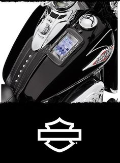 This portable music system pouch is designed for motorcycle use. | Harley-Davidson Boom! Audio Music Player Tank Pouch