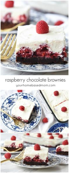 These chocolate raspberry brownies disappeared so fast at the dinner I served them at that I almost didn't get one!