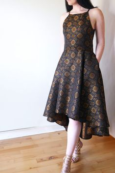 Sewing pattern review: Vogue Misses' Princess Seam High-Low Dresses - The Fold Line