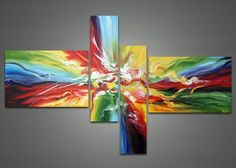 Multi Color Canvas Art Painting 1032 - 63x33in