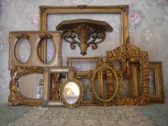 Gold Ornate Open Picture Frames 1 Shelf Vintage Style~Wedding~ Romantic  Lot 10 #Cottage