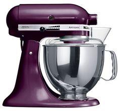 """KitchenAid Artisan Robot de Cozinha – Purpura <3 """"A personalidade de um cozinheiro expressa-se na criação de sensuais experiências culinárias que englobam todos os sentidos, incluído a visão. A KitchenAid considera as suas batedeiras como uma extensão criativa das mãos do cozinheiro, proporcionando um óptimo controlo a nível profissional. Esta Batedeira Artisan™ Chefe Tilt é tudo isso e tem um design icônico."""""""