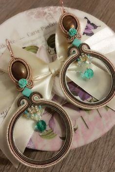 Soutache earrings by KIMA