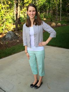 What I Wore: Mint and gray - LaForce Be With You