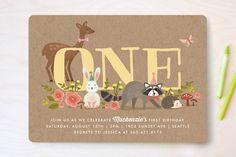 Animals Kids Birthday Invitations & Custom Birthday Invitations   Minted