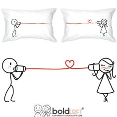 BOLDLOFT Say I Love You Couples Pillowcases-Christmas Gifts for Girlfriend, Boyfriend Gifts, Couples Gifts for Him and Her, His and Hers Gifts, Gifts for Couples, Husband and Wife Gifts for Christmas