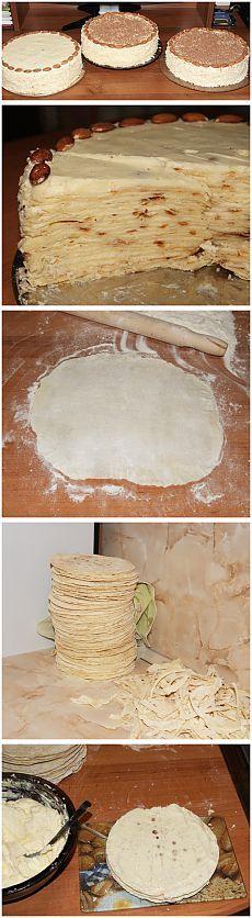 """Торт """"Напалион"""" (на сковороде)."""