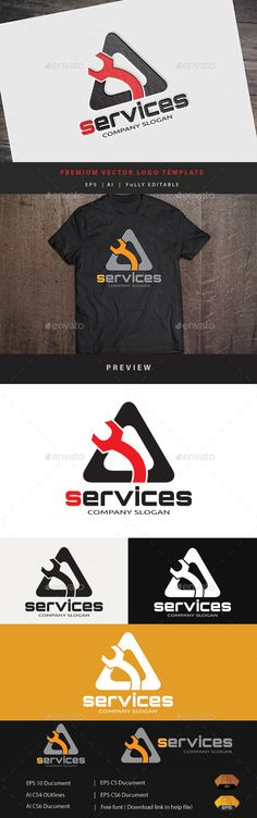 Services Logo Template #design #logotype Download: http://graphicriver.net/item/services-/12043030?ref=ksioks