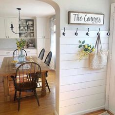 Who else is thinking about about a shiplap entry? , Who else is thinking about about a shiplap entry? Who else is thinking about about a shiplap entry? Always wanted to learn how. Home Diy, Rustic House, Easy Home Decor, Home Remodeling, Interior, Living Decor, Entryway Decor, Home Decor, House Interior