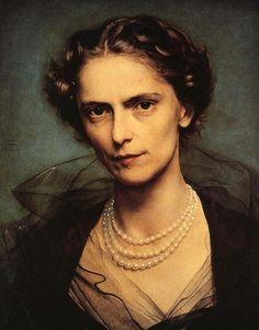 Pietro Annigoni    i love her disapproving glare.