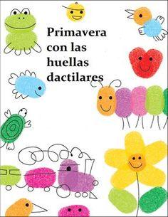 EL ARTE DE EDUCAR: TRABAJAR LA PRIMAVERA CON LAS HUELLAS DACTILARES 2 Diy And Crafts, Arts And Crafts, Paper Crafts, Diy For Kids, Crafts For Kids, How To Draw Fingers, Mother's Day Projects, Fingerprint Art, Finger Art