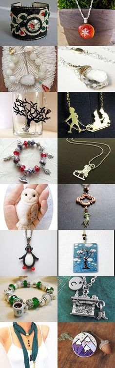 Winter Inspired Jewelry by Jennifer Wright on Etsy--Pinned with TreasuryPin.com #januaryfinds