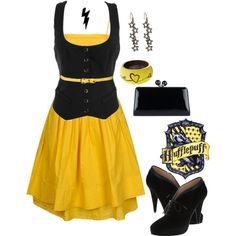 """""""Hufflepuff Style_Outfit"""" by unapologeticicon on Polyvore"""