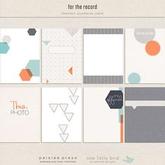 For the Record (Journaling Cards) by Paislee Press