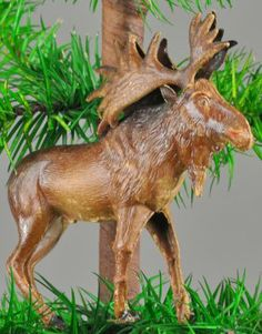 North Woods Moose Christmas Tree Ornament