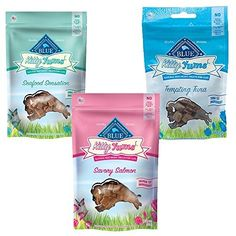 Your feline friend will be purring for these seafood flavors! This Kitty Yums variety pack includes three flavors of Salmon Tuna and Seafood Sensations.  They are all natural and incredibly deliciou...