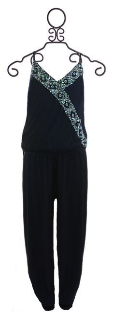 Flowers by Zoe Tween Jumpsuit with Sequins (Size MD 10)