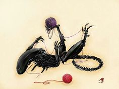 Xenomorph playing