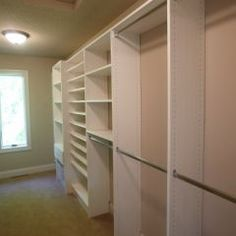 Shoe shelves & open shelving...