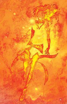 Phoenix aka Jean Grey - X-Men Comic Inspired Character Poster Series - 11x17 Retro Art Print. $18.00, via Etsy.