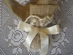 Lace and burlap wedding or bridal shower by FavorsAndMorebyFiona, $4.00