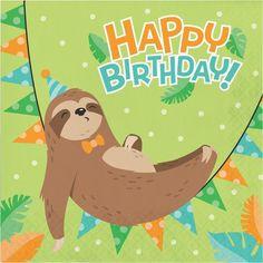 Sloth Happy Birthday, Happy Birthday Messages, Happy Birthday Parties, Happy Birthday Banners, Birthday Greetings, Birthday Decorations, Birthday Wishes, Birthday Lunch, 11th Birthday