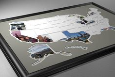 Add your own photos to each of the 50 US states to capture a lifetime of memories and create a one-of-a-kind map showing where youve been or where youre going. This USA photo map is great for anyone with the goal of visiting all 50 states. If youre looking for an added challenge find something to do in each state such as: Visit the highest point, run a marathon, drink a beer brewed in that state, visit the capital, take a picture at the state line, or invent your own! ★★★ USA Photo Map…