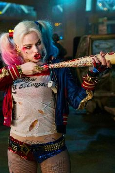 Harley Quinn played by Margot Robbie in Suicide Squad