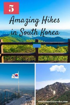 If you happen to be in South Korea consider hiking. Check out this list of five great hikes to take in South Korea. South Korea Travel, Asia Travel, Solo Travel, Sweden Travel, Travel Guides, Travel Tips, Travel Destinations, Travel Hacks, Travel Packing