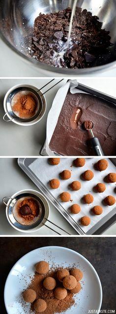 La receta de trufas de chocolate mas fácil de hacer.