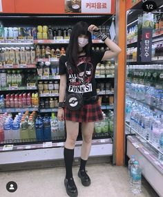 Punk Outfits, Cute Casual Outfits, Fashion Outfits, Alternative Outfits, Alternative Fashion, Harajuku Fashion, Dark Fashion, Aesthetic Clothes, My Style