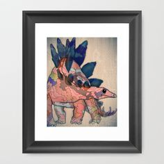 stegosaurus Framed Art Print by MAKE ME SOME ART - $32.00