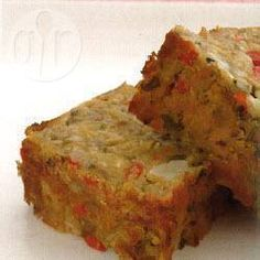 Lentil and cashew nut roast @ allrecipes.co.uk Use GF breadcrumbs