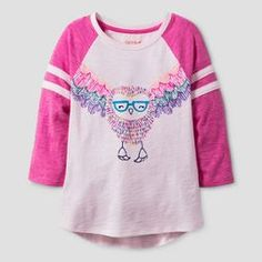 Girls' Sleeve Owl Print Baseball T-Shirt - Cat & Jack™ Pink : Target Owl Shirt, I Love My Daughter, Fall Shirts, Girl Falling, Chino Shorts, These Girls, Girl Outfits, Beach Outfits, Cool Style