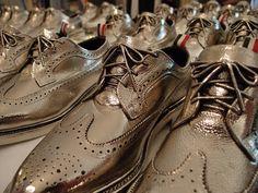 "Silver ""bronzed"" brogues at Thom Browne S/S 2013 Paris"