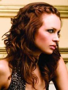 inspiration for my hair. curls and down plus incorporate braid also