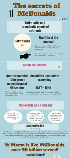The-Secrets-Of-Mcdonalds #infographic #food #drink #mcdonalds