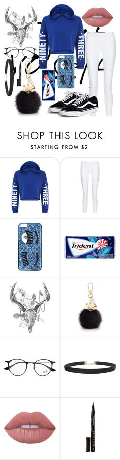 """""""Untitled #753"""" by fashiongirlxcx ❤ liked on Polyvore featuring New Look, 10 Crosby Derek Lam, Chiara Ferragni, Furla, Ray-Ban, Humble Chic, Lime Crime and Smith & Cult"""