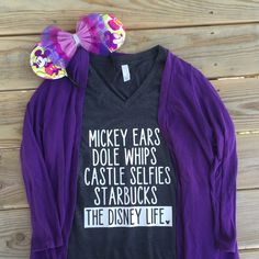 NEED IT for the next time we go to WDW!! The Disney Life. by CafeFortySeven on Etsy