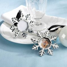 product image for Kate Aspen® Snowflake Place Card Holder/Ornament (Set of 4)
