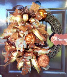 A personal favorite from my Etsy shop https://www.etsy.com/listing/460406912/fall-wreath-autumn-wreath-punkin-wreath