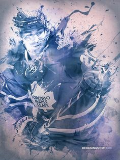 NHL: James van Riemsdyk, Maple Leafs Illustration on Behance Nhl Hockey Jerseys, Hockey Players, Baseball Tattoos, Maple Leafs Hockey, Ice King, Toronto Maple Leafs, The Incredibles, Leaves, Sport Design